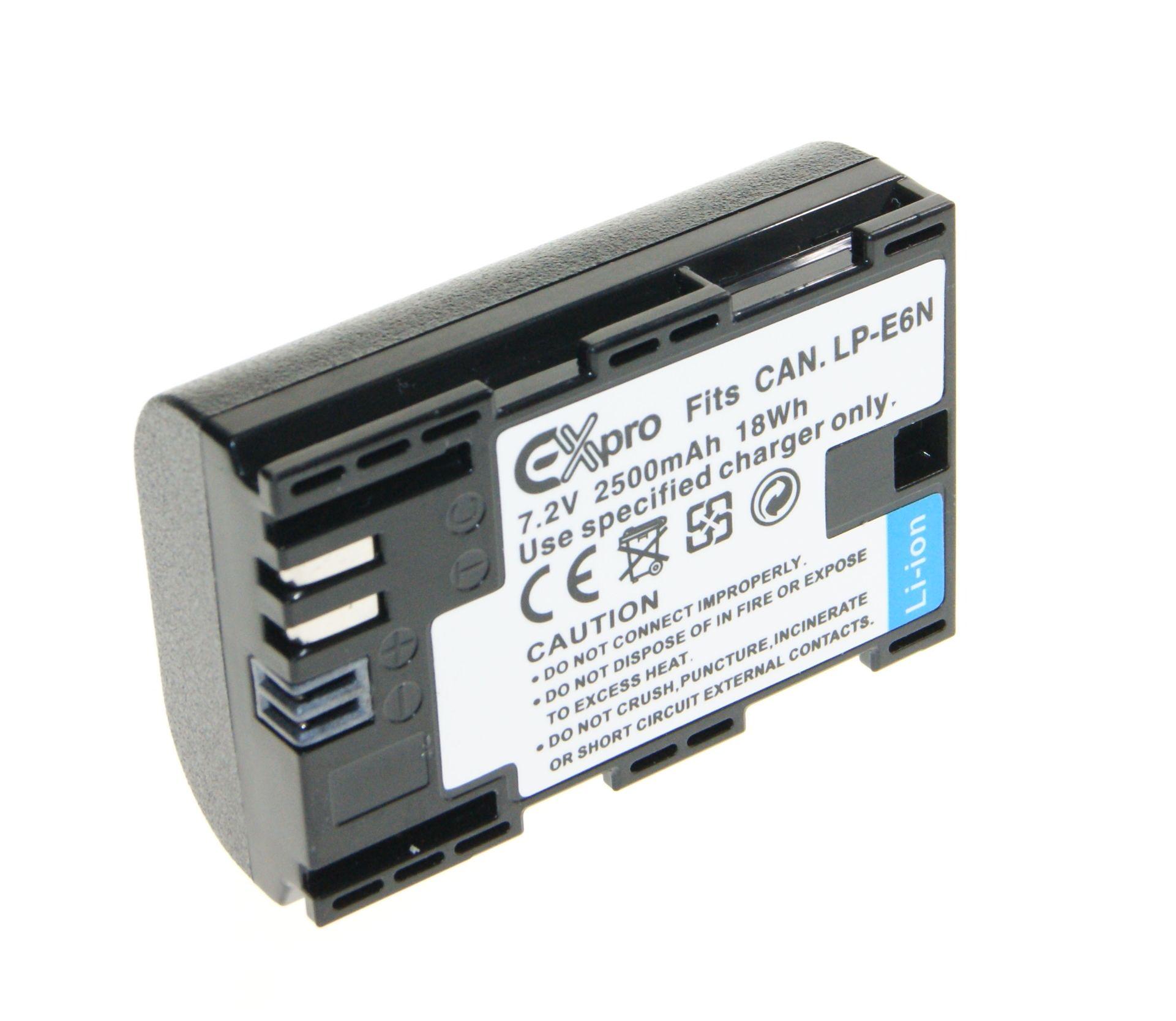 Ex-Pro LP-E6 LP-E6N 2500 mAh Batería para Canon EOS 5D Mark 6D 7D 60D 60Da II III