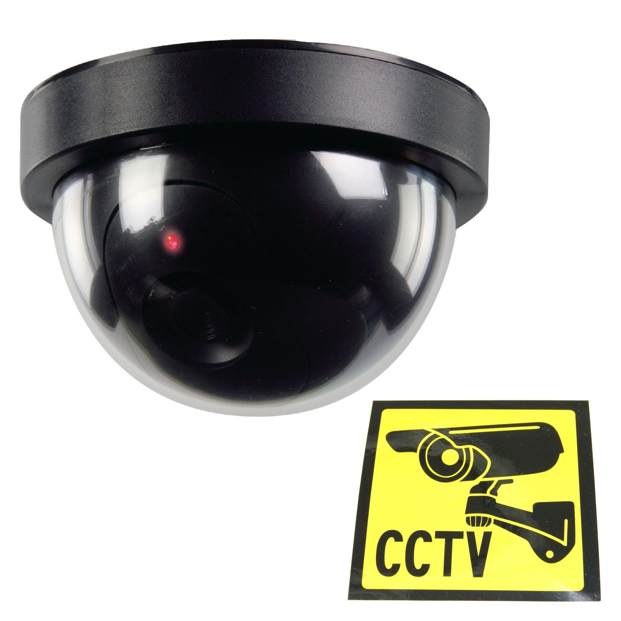2 unités Dummy CCTV caméra de sécurité Moniteur Avec Clignotant DEL Rouge Scare voleur