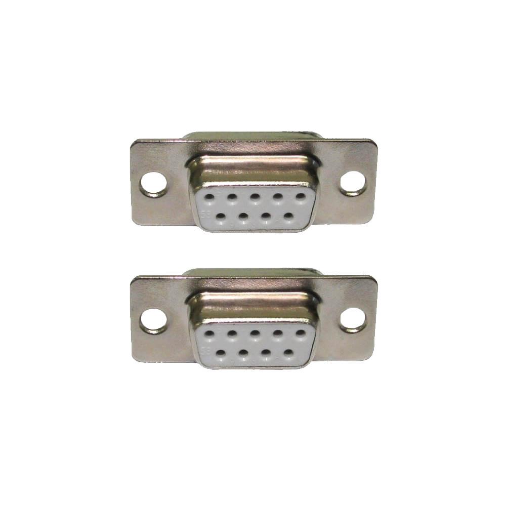 2 x Pro DB9 Solder Sockets 9 Way Serial D Sub Connectors Female