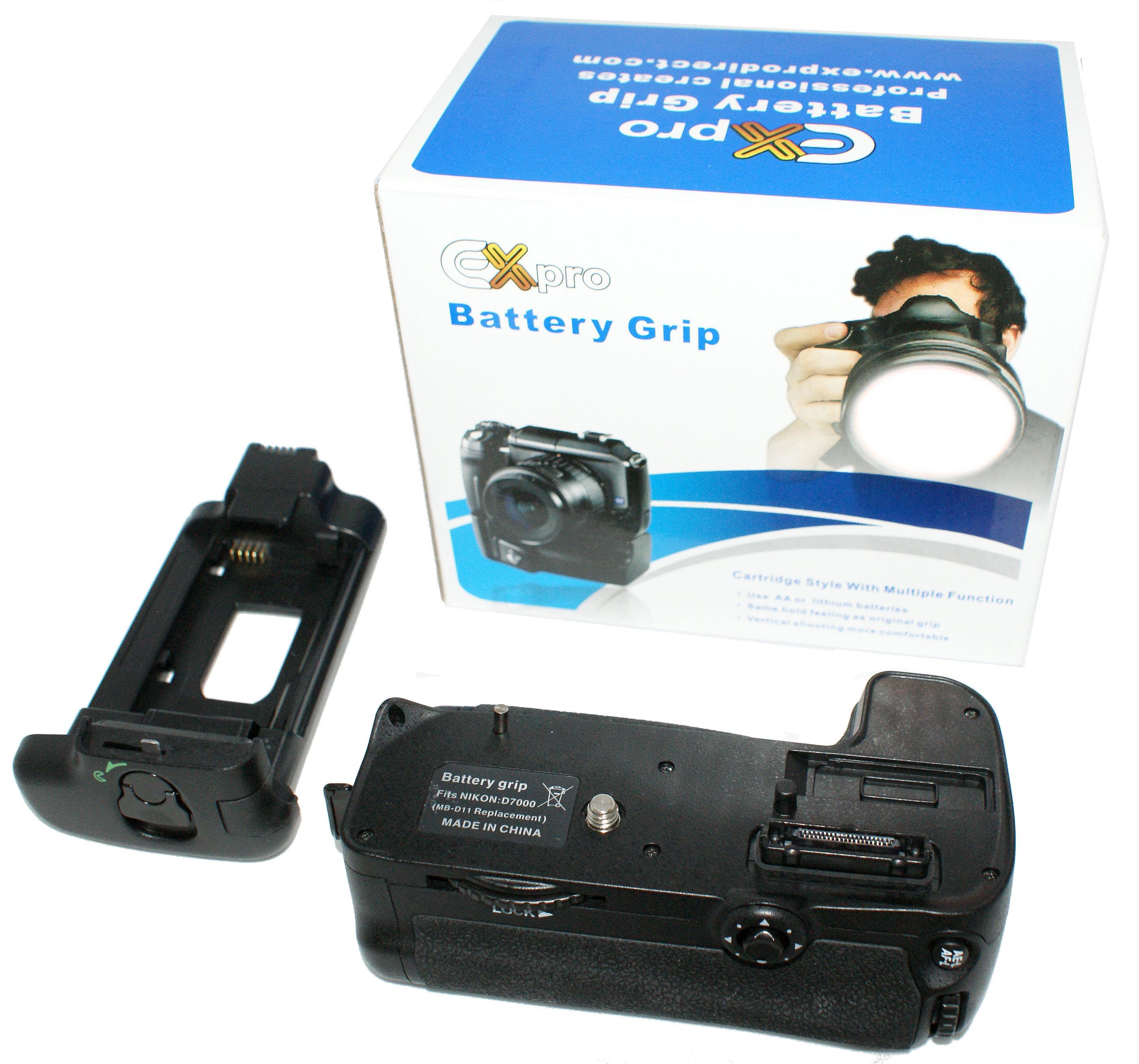 Ex-Pro Power Grip Nikon MB-D11 Kit para Nikon D7000 batería Ex-Pro EN-EL15