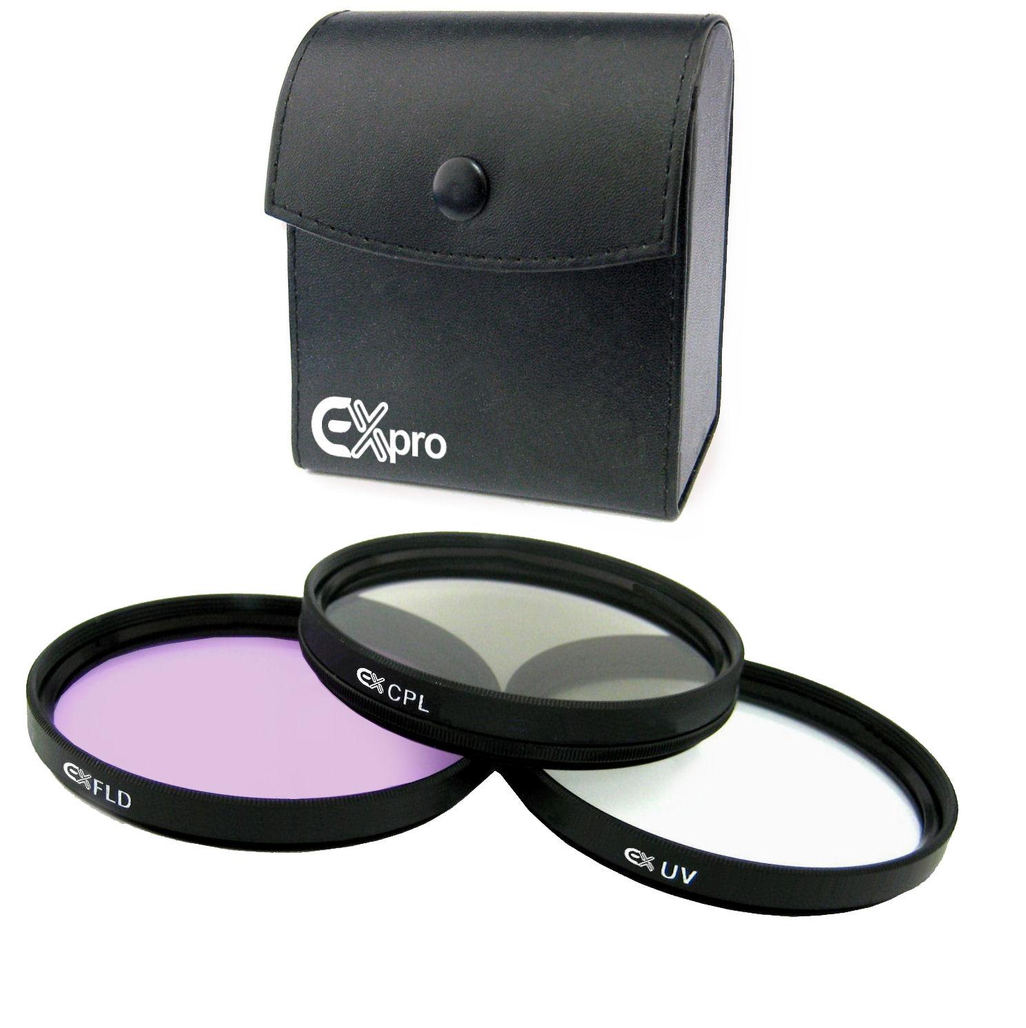 Ex-Pro® 77mm Pro Multi Capa Kit de filtro de la lente cristal UV CPL polarizador