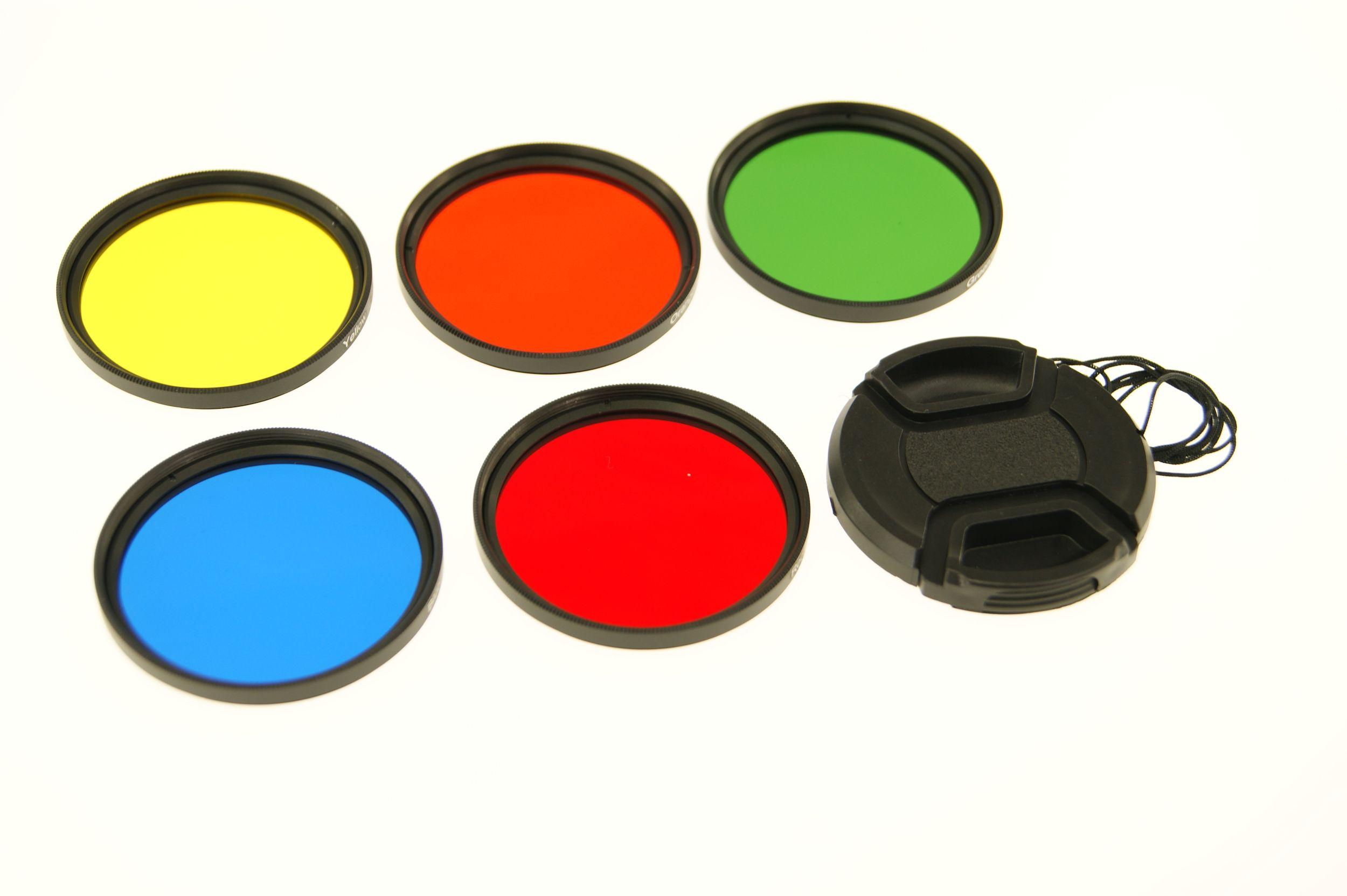 Ex-Pro 52mm Colour Filter Set 5 Piece Filter Kit with Case /& Lens Cap